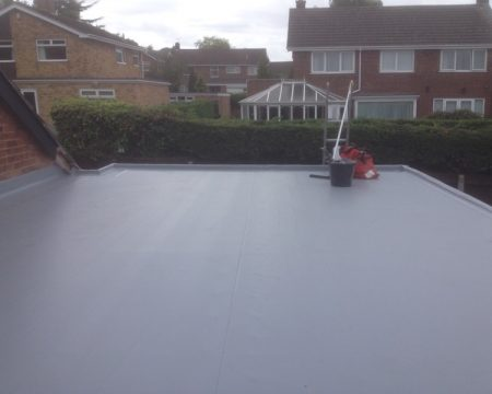 PVC roof on home extension