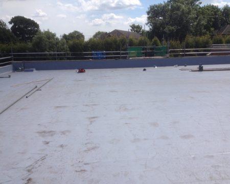 Warehouse flat roof