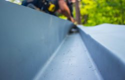 Flat roof overlay system installation